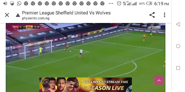 ⚽⚽⚽⚽ Premier League Sheffield United Vs Wolves