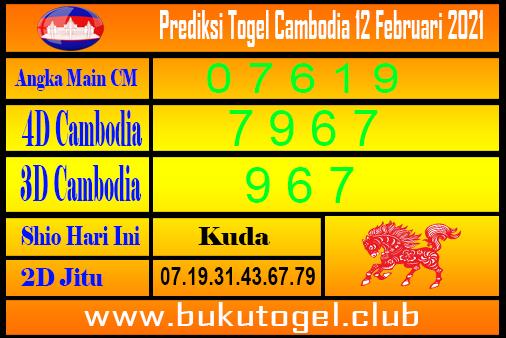 Prediksi Cambodia 12 Februari 2021