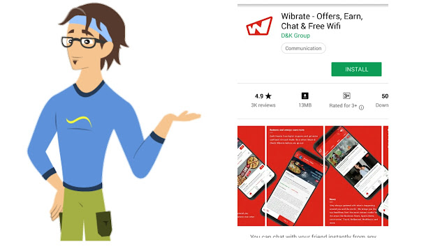 Wibrate App - Get Rs.5 Sign UP Bonus + Rs.5 / Refer (Redeem as Vouchers)