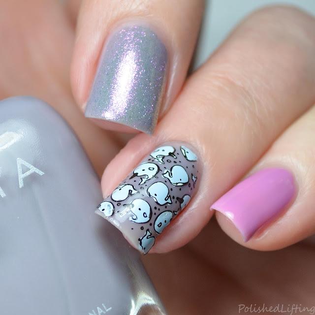 narwhal nail art