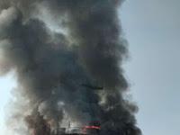 Kapal Tanto Ceria Terbakar Di Sekitar Perairan Gresik