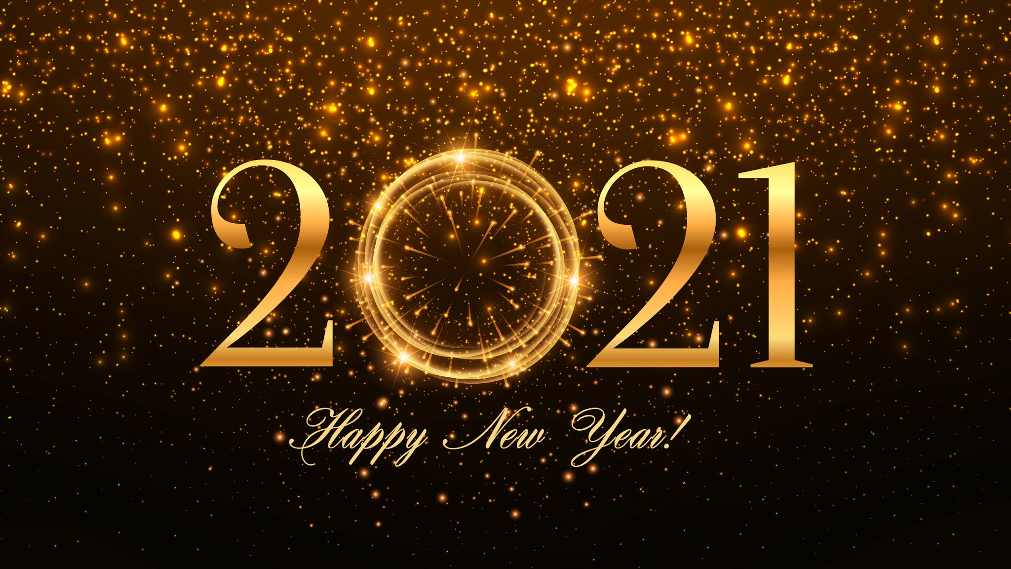 2021 Happy New Year HD Wallpaper