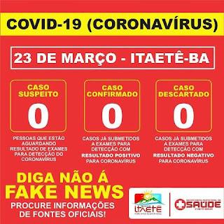 Entradas da cidade para combater o Coronavírus