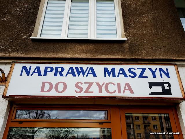 warszawskie szyldy retro retroszyld tabliczka Mokotów