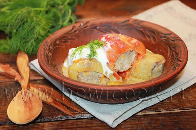 рецепт фаршированных перцев с мясом и рисом