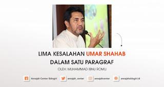 Lima Kesalahan Umar Shahab dalam Satu Paragraf