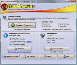 تحميل برنامج مسح ملفات التجسس من الكمبيوتر مع الشرح SUPERAntiSpyware 2016