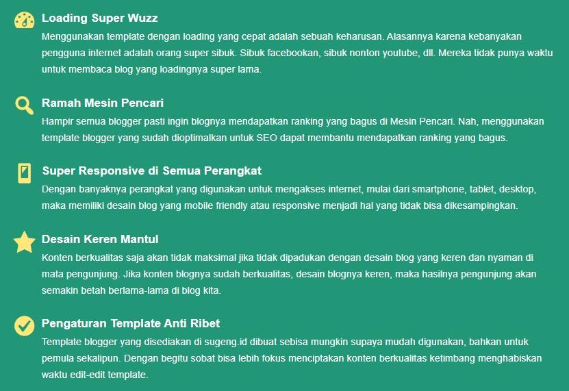 Keunggulan Template Rekomendasi Munaji.com