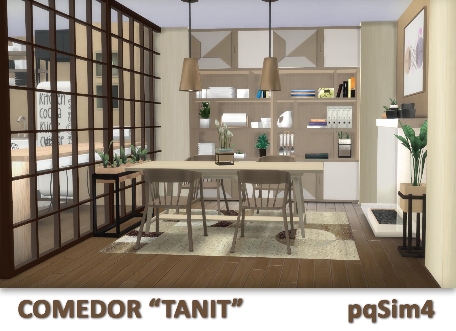 Sims 4 Custom Content Hola Hoy Traigo El Comedor De La Serie Tanit Viene Con Cuatro Combinaciones Color Y Creo Que Ha Quedado Muy Alegre