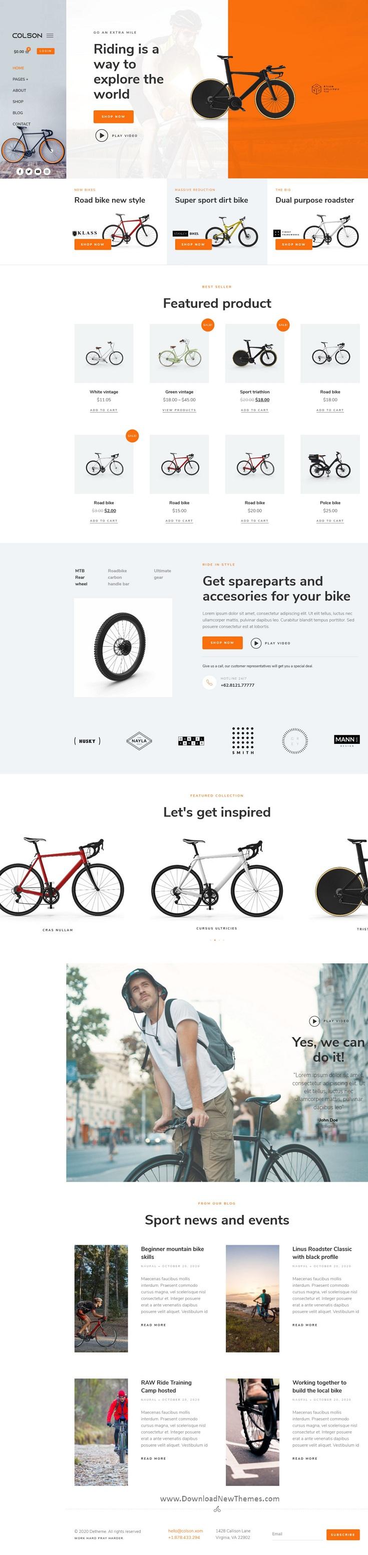 Bike WooCommerce Elementor Template Kit