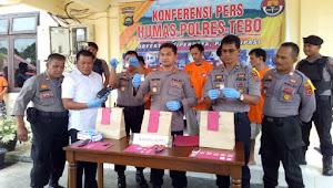 Polisi Ringkus Lima Bandar Narkoba di Tebo, 3 Dari Tebo Ulu, 2 Dari Bungo