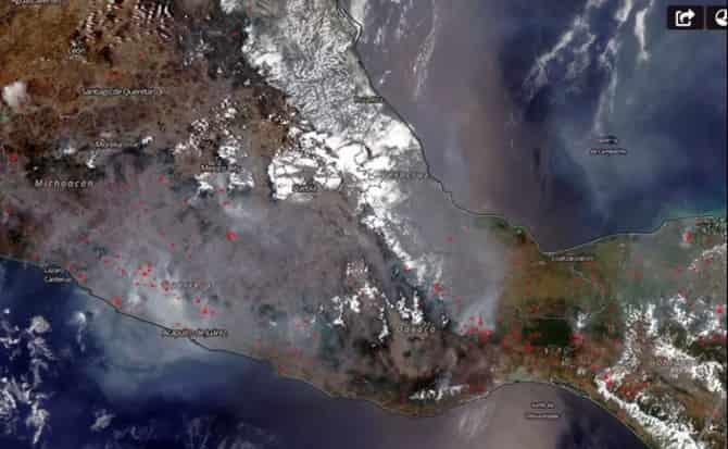 Nasa, mapa, México