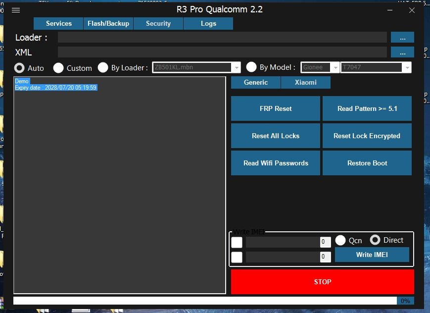 R3 Qualcomm 2 2 Tool latest version Without Activation
