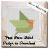 free cross stitch pattern to download, free cross stitch design