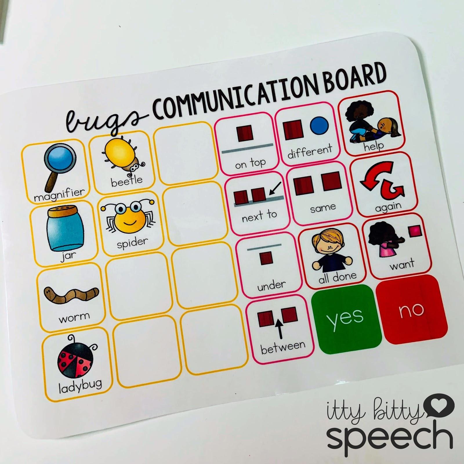 Bugs Preschool Language Theme
