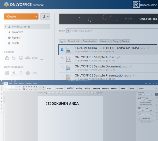 cara membuat PDF di HP Tanpa Aplikasi