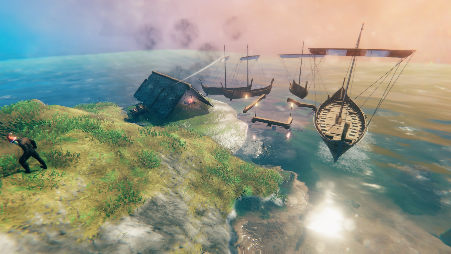 How to build a ship and your own fleet in Valheim