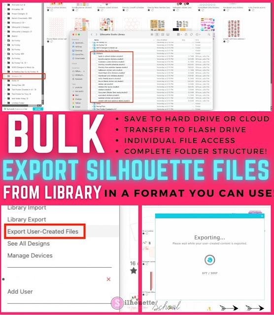 silhouette 101, silhouette america blog, silhouette studio library, silhouette studio v4, export silhouette studio library