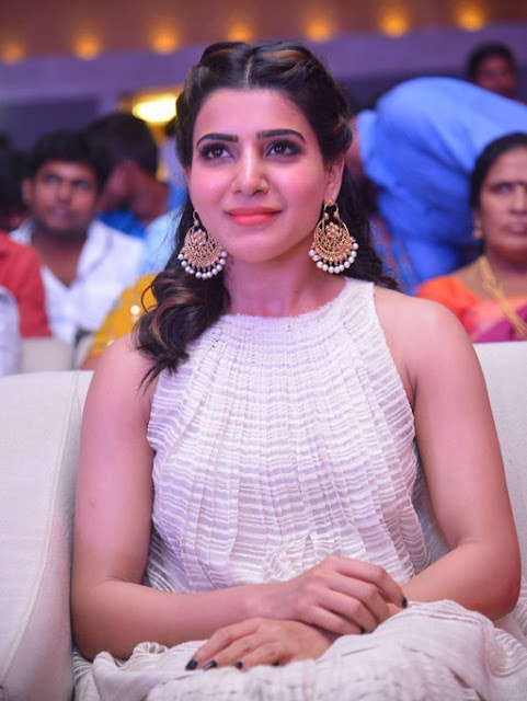 Samantha Latest in white dress Photos