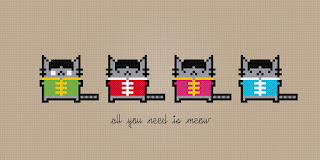 The Cat Beatles - All You Need Is Meow - Cross Stitch PDF Pattern Download