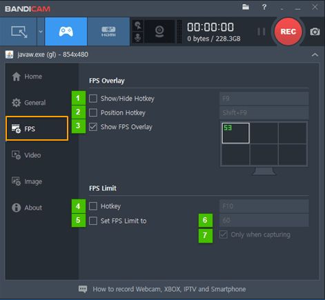 How to check out Bandicam FPS game