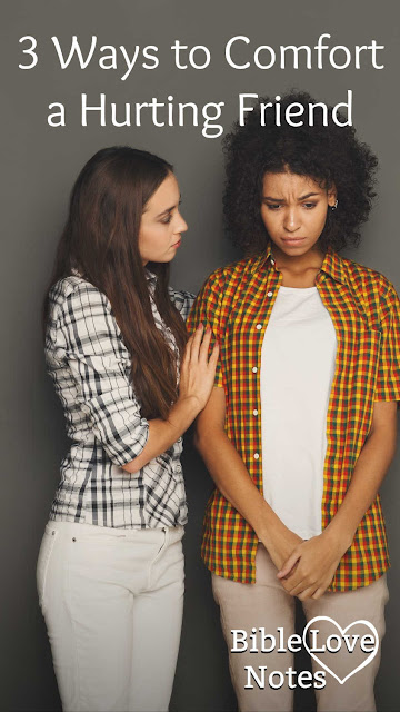 It can be hard to know what to do when someone is suffering. This 1-minute devotion offers 3 biblical ways to comfort a friend.