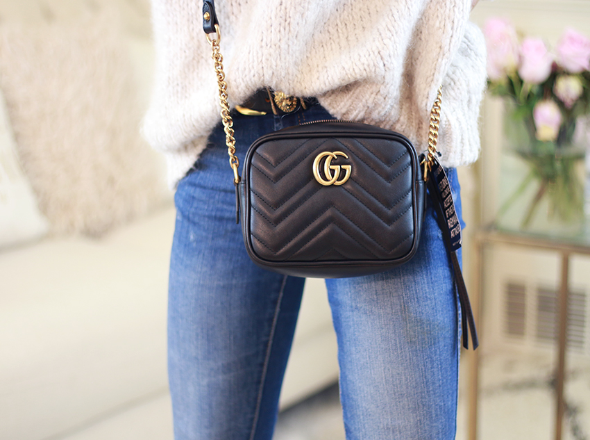 Dadou Chic Gucci Gg Marmont Mini Camera Bag