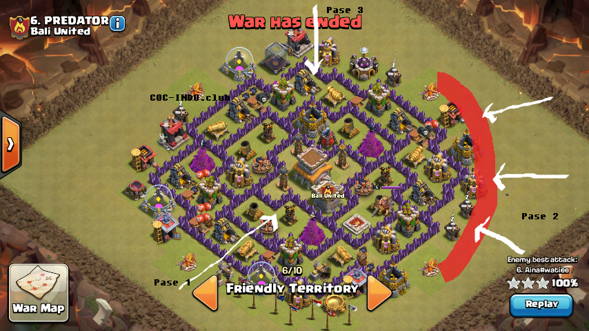 Base Coc Th 8 Kuat Pertahanan 1