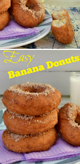 How to make your own easy Banana Donuts ~ perfect recipe for Donut making beginners and it never fails