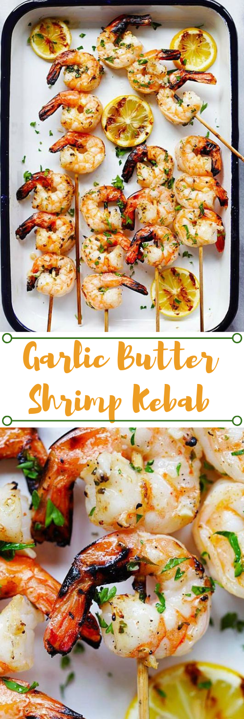 Grilled Shrimp Kebab #shrimp #kebab #dinner #healthyrecipe #food
