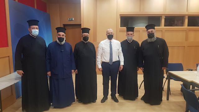 Συνάντηση του Ιερού Συνδέσμου Κληρικών Ελλάδος με τον Κυβερνητικό Εκπρόσωπο