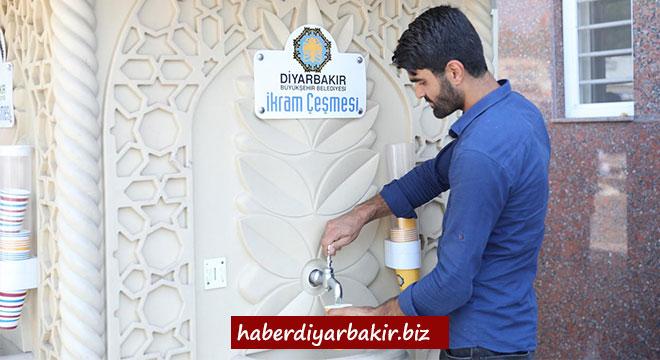 Diyarbakır'daki ikram çeşmelerinden limonata akıyor