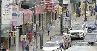 Older lady walking down a New York street