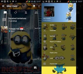BBM Mod Tema Minion