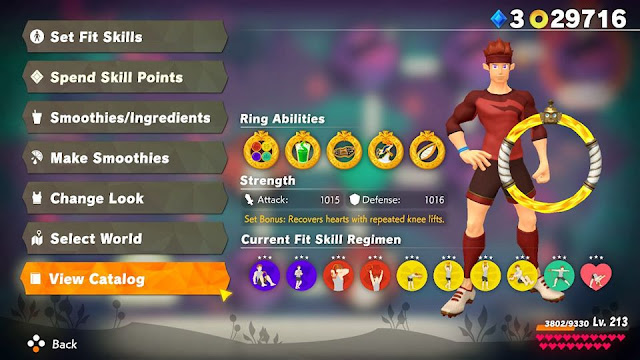 Ring Fit Adventure current fit skill regimen versus final boss stats