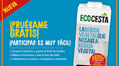 Prueba gratis la nueva bebida vegetal de EcoCesta
