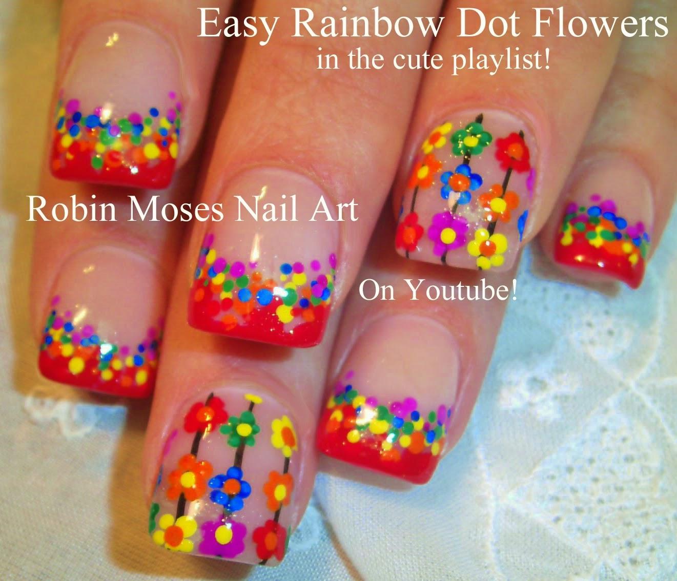 """Robin Moses Nail Art: """"easy flower nails"""" """"nail art ..."""