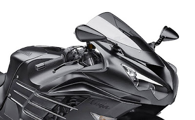 Kawasaki Ninja ZX-14R spark black front view