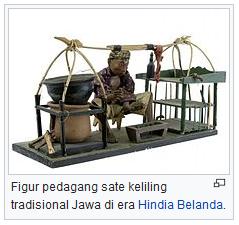 Figur pedagang sate keliling tradisional Jawa di era Hindia Belanda wisataarea.com