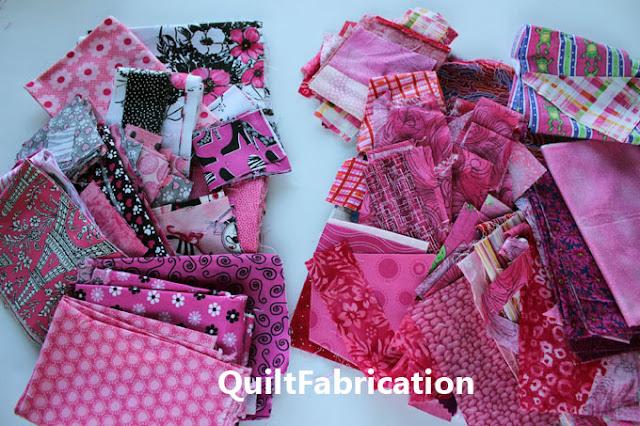 pink scrap piles
