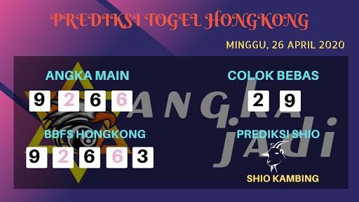 Prediksi HK 26 April 2020 - Prediksi Angka HK