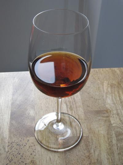 A glass of tasty sherry.
