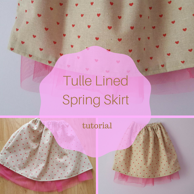Tulle Lined Spring Skirt Tutorial