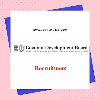 Coconut Development Board Chennai Recruitment 2019 for Field Consultant
