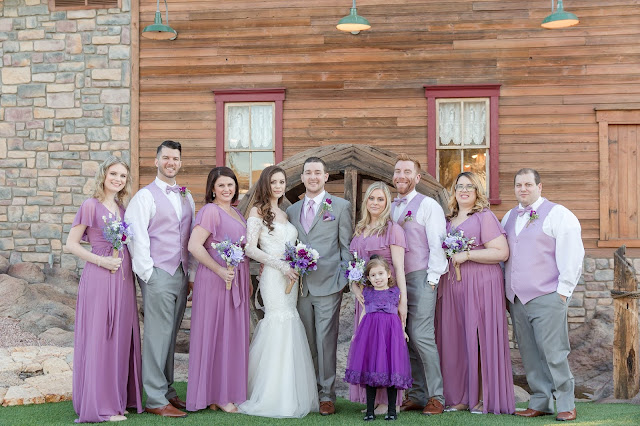 Shenandoah Mill Wedding Portraits of bridal party by waterwheel by Micah Carling Photography