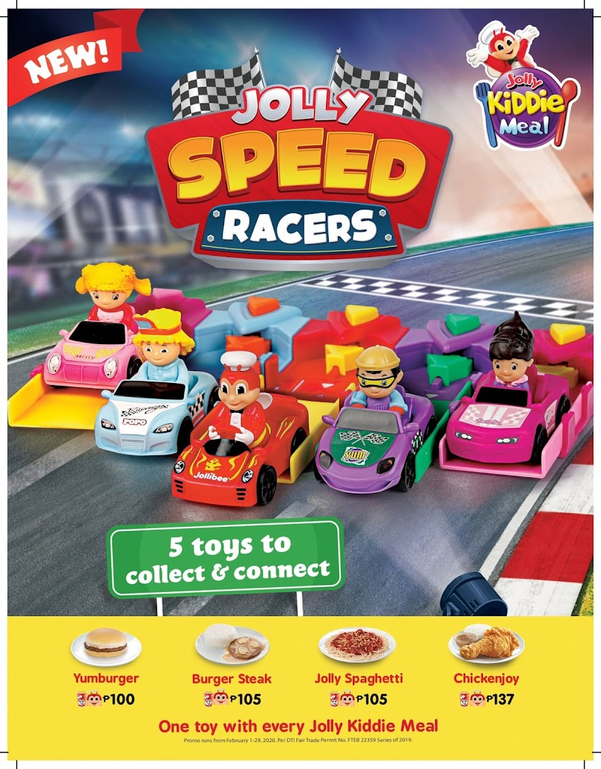 Jolly Speed Racers for Every Jolly Kiddie Meal