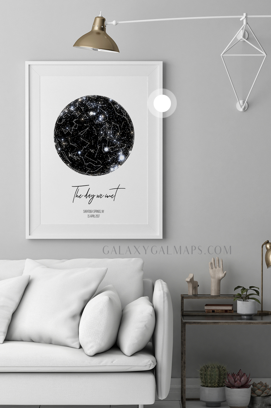star map by date and location astrology poster wall art personalized family name sign framed print personalized wedding gift for blended family