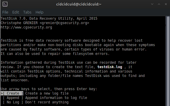 TestDisk - Partition & file recovery application
