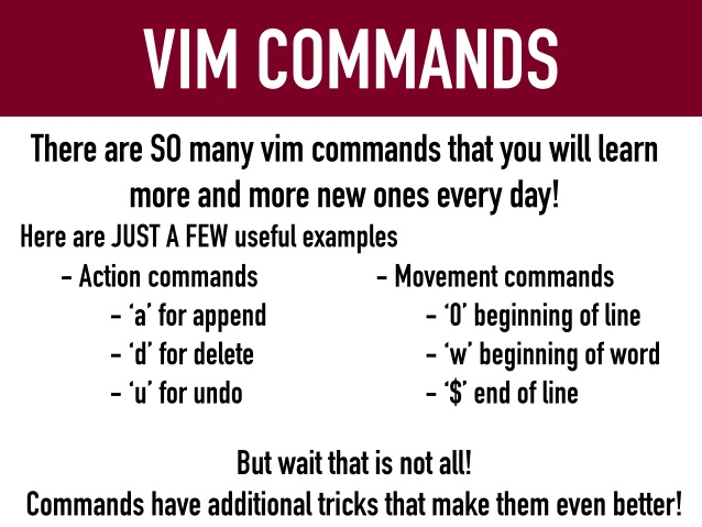 Vim Commands