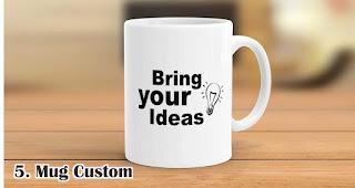 Mug Custom merupakan salah satu rekomendasi souvenir kekinian yang tepat untuk anak muda